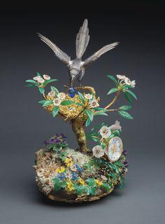 """Patek Philippe """"The Magpie's Treasure Nest Clock""""."""