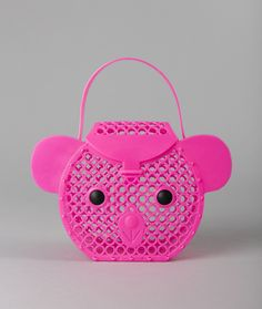 Bear Basket: A neat little basket in the shape of a teddy bears head, easy to open and close with a removable handle.