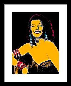 Rita Hayworth Framed Print featuring the mixed media La Dama De Trinidad by Otis Porritt