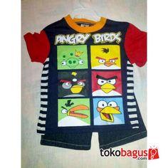 Setelan Angry Birds (kaos+celana pendek)