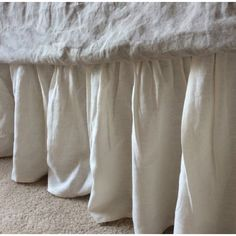 Cream Linen Gathered Bedskirt perfect neutral color to create victoria style bedroom| Handcrafted by Superior Custom Linens (from http://ift.tt/2iNXV88)    #shabbychicbedding #farmhouse #farmhousestyle #farmhousedecor  #cottagestyle #cottageliving #mycottageinstincts #farmhousechic #farmhousebedroom #farmhousebedding  #rufflebedding #ruffles #ruffleswithlove #bedskirt #cream #ivory #victorianbedrooms