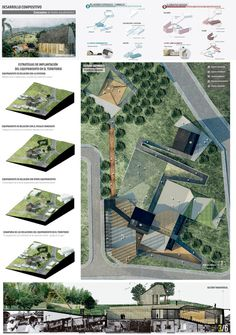 Gallery of The 12 Best Architectural Final Degree Projects in Colombia - 18 - Image 18 of 139 from gallery of The 12 Best Final Degree Architectural Projects in Colombia. Plan Concept Architecture, Architecture Presentation Board, Landscape Architecture Design, Architecture Graphics, Landscape Plans, Architecture Portfolio, Presentation Board Design, Parque Linear, Layout