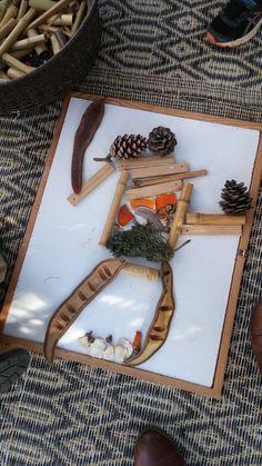 משחק ויצירה עם חומרים טבעיים, חוה בלב, כפר יעבץ.