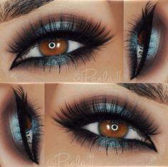 make your own makeup Makeup Eye Looks, Beautiful Eye Makeup, Makeup For Brown Eyes, Pretty Makeup, Love Makeup, Skin Makeup, Makeup Inspo, Eyeshadow Makeup, Makeup Inspiration