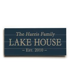 Look at this Lake House Personalized Wall Sign on #zulily today!