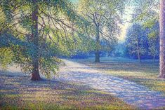 Oil on linen, 80 x 120 cm. Painted by Tore Hogstvedt Pointillism, History Museum, Claude Monet, New Series, Oslo, Natural History, Impressionist, Botanical Gardens, Conservation