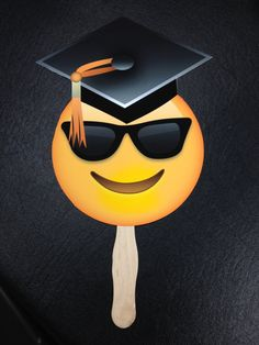 GRADUATION LIMITED EDITION Emoji on a Stick Smiley by SnapProps #emoji #emoticons #smiley #smileyface