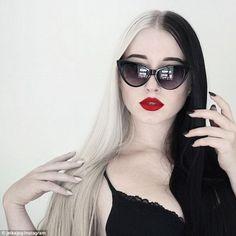 Dutch photographer and visual artist, Jelka W, 20, rocks Cruella-style hair