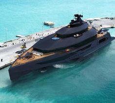 Black on black.. Black yachts ♣️♠️