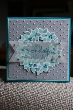 Wondrous Wreath by Hzip - Cards and Paper Crafts at Splitcoaststampers