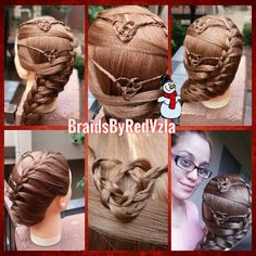 Knotted heart braids w/ side french braid