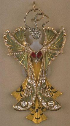 House of Vever (Paul & Henri) pendant; Paris, 1900