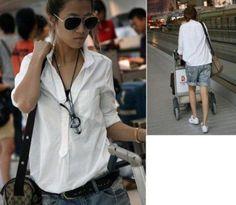 White sleeved shirt, £8.99