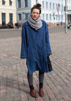 "Teresa, 22. ""I like to wear blue and black, second hand and things I've made myself. 80s movies inspire me."""