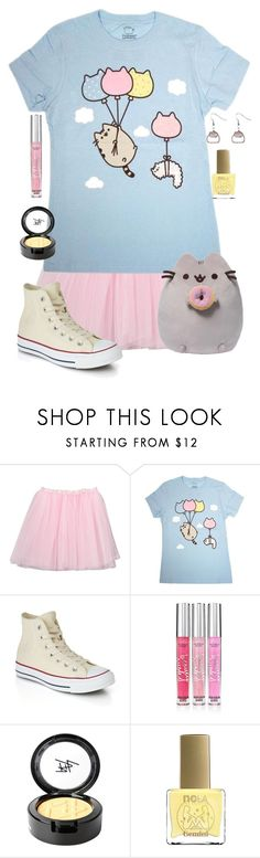 """""""Pusheen"""" by adventuretimekitty ❤ liked on Polyvore featuring Pusheen, Converse, Victoria's Secret, Beauty Is Life, ncLA and pusheen"""