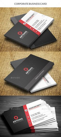 Business card design suitable for companies or personal use. Download here: http://graphicriver.net/item/corporate-business-card/10720247