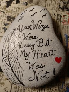 For my dad Pebble Painting, Pebble Art, Stone Painting, Rock Painting, Rock Crafts, Diy And Crafts, Arts And Crafts, Miss You Mom, Kindness Rocks