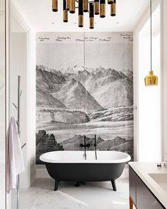 Tranquil murals are better next to bathtubs. // Design by @zzuzya @allenmohn and Alexandr Ivasiv //  @zzuzya