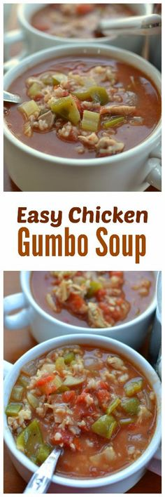 Easy Chicken Gumbo Soup   Small Town Woman