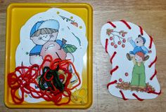 1 - 2 - 3 Learn Curriculum: Apple Lacing Cards