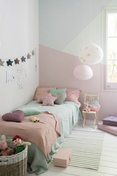 26 Ideas to Paint Children& Rooms Cute Girls Bedrooms, Bed For Girls Room, Girl Room, Kids Bedroom, Study Room Decor, Teen Room Decor, Bedroom Decor, Toddler Rooms, Childrens Rooms