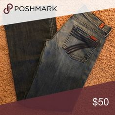 7 for all Man kind jeans 👖☺️ Great condition - like new! The bottoms are not worn at all :) 7 For All Mankind Jeans Flare & Wide Leg