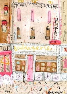 Boulangerie Paris by Clare Caulfield, printmaker