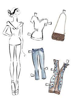 ¿Hablamos de moda? Dibujo: bocetos de moda, distintos sketchs de prendas y complementos.