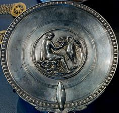 Another superb piece of roman silversmithing – the Leda and the Swan mirror from…
