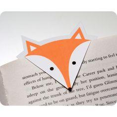 Téléchargez gratuitement ce fichier pour fabriquer votre propre marque-page en forme de renard. Un guide est disponible sur le blog pour vous aider à le réaliser