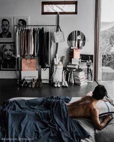 Best Scandinavian Interior Design Inspiration - Home DIY Idea Gray Bedroom, Trendy Bedroom, Bedroom Inspo, Home Decor Bedroom, Bedroom Inspiration, Men Bedroom, Bedroom Ideas, Bed Ideas, Room Ideas For Men
