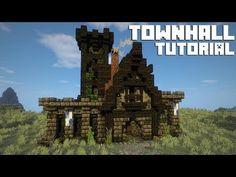 minecraft hall town tutorial castle medieval amazonaws easy