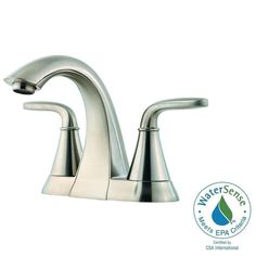 Sink Faucet for the master bath Pfister Pasadena 4 in. Centerset Bathroom Faucet in Brushed Nickel - - The Home Depot Shower Fixtures, Shower Faucet, Shower Tub, Shower Heads, Roman Tub Faucets, Lavatory Faucet, Bathroom Faucets, Bathrooms, Master Bathroom
