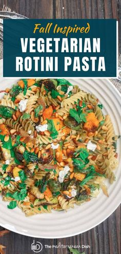 This Fall Rotini Pasta is a perfect dish that is sure to please! You do not have to be a vegetarian to fall in love with the flavors of this pasta dish. Try it for a side or just a light dinner any night of the week! Best Dinner Recipes, Vegetarian Recipes Easy, Fall Recipes, Healthy Recipes, Amazing Recipes, Healthy Comfort Food, Healthy Meals For Kids, Easy Healthy Dinners, Rotini Pasta Recipes