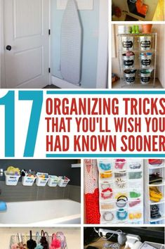 Organizational tricks, tips, and hacks you can use right away to get your home organized. You'll wish you'd known about these organizational ideas sooner. Life Organization, Organizing Ideas, Really Good Stuff, Cool Diy Projects, Getting Organized, Fun Crafts, Wish, Household, Gift Wrap