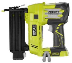 Ryobi Air Strike Nail Gun, Cordless, does not need compressor.  Great for crown molding and small woodworking tasks.