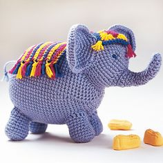 Crochet Circus Elephant Amigurumi Pattern - Crochet Amigurumi - 225 Free Crochet Amigurumi Patterns - Page 3 of 4 - DIY & Crafts Crochet Gifts, Cute Crochet, Crochet For Kids, Knit Or Crochet, Funny Crochet, Crochet Pillow, Crochet Elephant Pattern, Crochet Patterns Amigurumi, Crochet Dolls