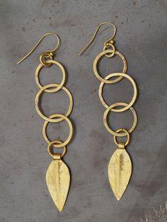 #recycled brass earrings #jewellery #Kenya #Africa