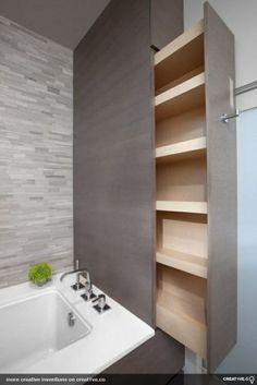 How smart! This would add so much storage to the small bathroom...