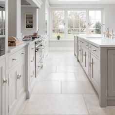 Babington Limestone Tumbled – Natural Stone Flooring – HM Stone Library Source by Stone Kitchen Floor, Kitchen Tiles, Kitchen Flooring, Kitchen Furniture, New Kitchen, Kitchen Decor, Kitchen Cabinets, White Kitchen Floor Tiles, Kitchen Island