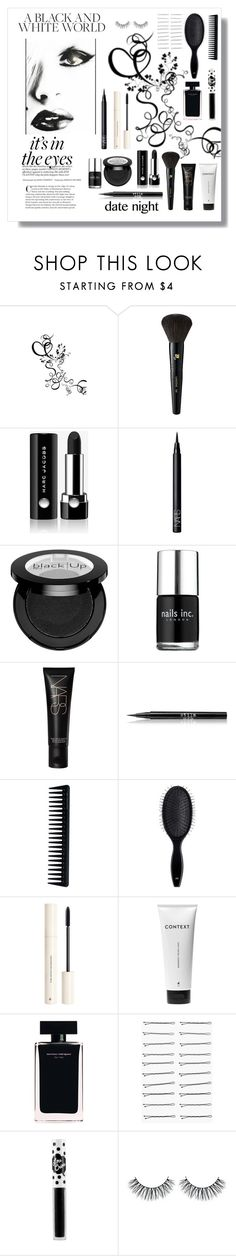 """""""Black & White Beauty"""" by youaresofashion ❤ liked on Polyvore featuring beauty, Lancôme, Marc Jacobs, NARS Cosmetics, Nails Inc., Stila, GHD, H&M, Narciso Rodriguez and Boohoo"""