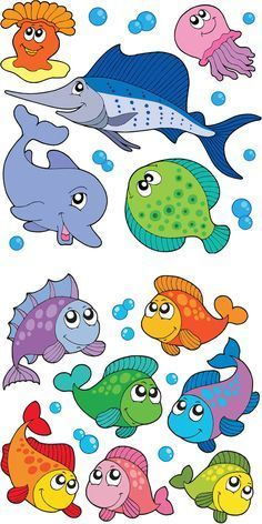 Ocean Animals Clipart For Kids Theme Tags Sea Creatures Diy And Crafts, Crafts For Kids, Paper Crafts, Decoration Creche, Cartoon Fish, Cartoon Dolphin, Cartoon Sea Animals, Funny Animals, Fish Template