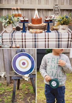 Super Cute {Backyard} Winter Camping Party // Hostess with the Mostess® Backyard Camping Parties, Camping Theme, Backyard For Kids, Backyard Ideas, Hunting Party, Boy Birthday Parties, 3rd Birthday, Birthday Ideas, Themed Parties