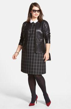 Plus Size Check Shift Dress