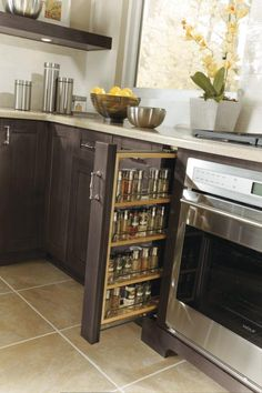 "When organizing your kitchen is top priority for your remodeling project, MasterBrand's cabinet brands have the solution for any space including 3"" fillers!"