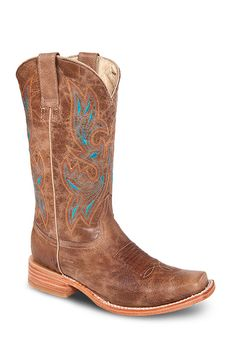 Dark brown color with a glint of turquoise, these boots will let everyone know you have your feet on the ground – but you're always up for an adventure. Constructed with double stitch Goodyear Welt an