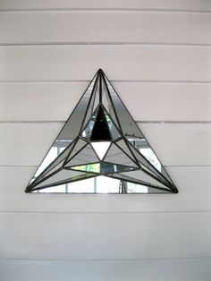 triangle 3d mirror etsy
