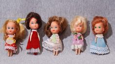 Mattel Littles Dolls!  I had the one in the red dress and adored her!
