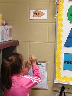 Raking up sight words around the room
