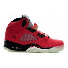 Air Jordan 5 Retro Raging Bull Red Suede Varsity Red Black